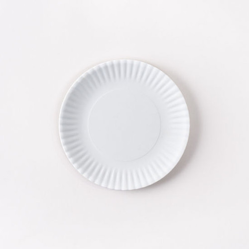 """White """"Paper Plate Look"""" Melamine 6"""" Plate by One Hundred 80 Degrees - Set of 4"""