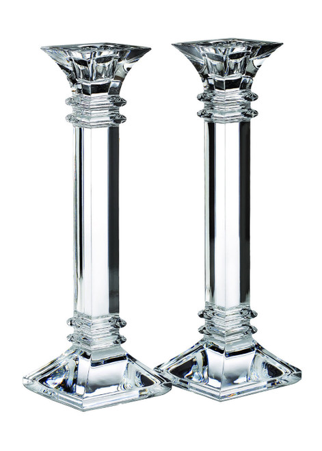 """Marquis Treviso 10"""" Candlestick Pair by Waterford"""