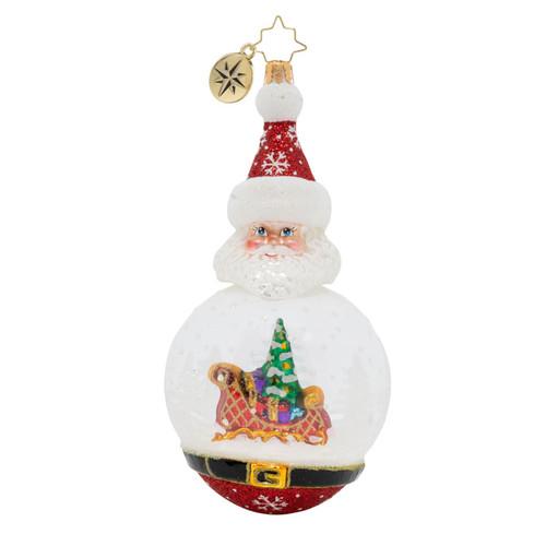 Santa's Snowy Dome Ornament by Christopher Radko