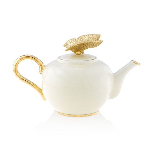 Jay Strongwater Mae Butterfly Teapot - Special Order