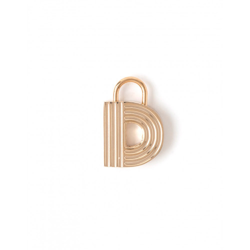 """Letter """"D"""" Padlock Charm - Style Spartina 449"""