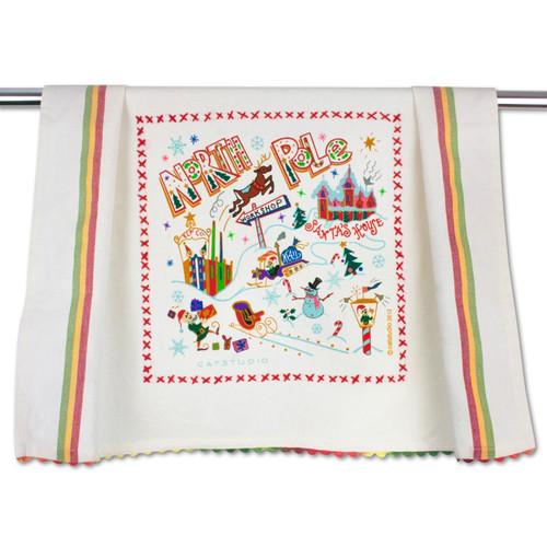North Pole Dish Towel by Catstudio