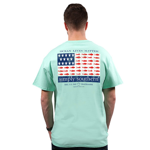 XXLarge Ocean Lives Matter Unisex Short Sleeve Tee by Simply Southern