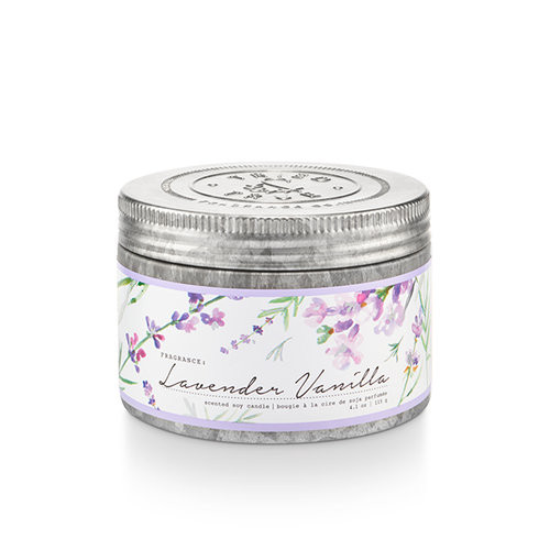Lavender Vanilla 4.1 oz. Small Tin Candle by Tried & True