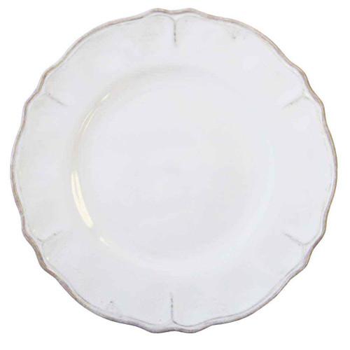 Rustica Antique White Dinner Plate by Le Cadeaux