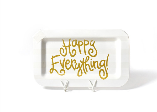 White Stripe Happy Everything Mini Rectangle Platter by Happy Everything!