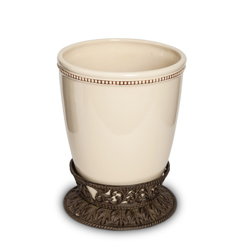 Waste Basket-Cream - GG Collection