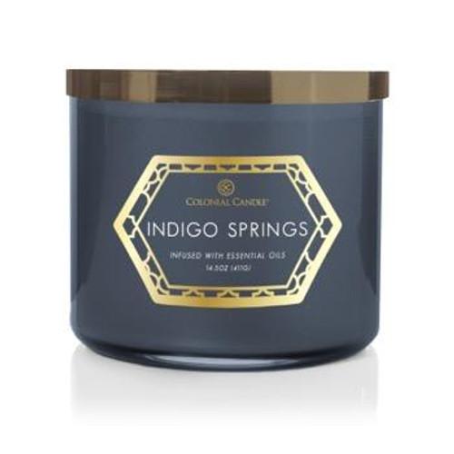 Indigo Springs 14.5 oz. Luxe Trend Collection Colonial Candle