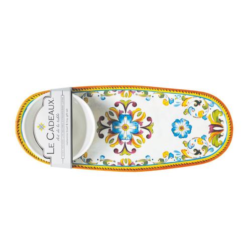 Toscana Bowl & Tray Set by Le Cadeaux