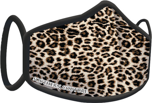 Southern Couture Solid Leopard Face Mask By Couture Tee  Company