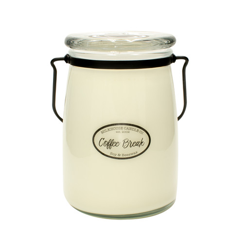 Coffee Break 22 oz. Butter Jar Candle by Milkhouse Candle Creamery