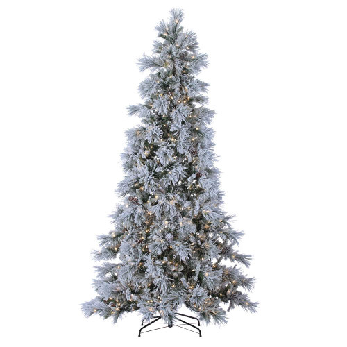 Flocked Snowbell 9 ft. Pine with Twinkling Lights by Sterling Tree