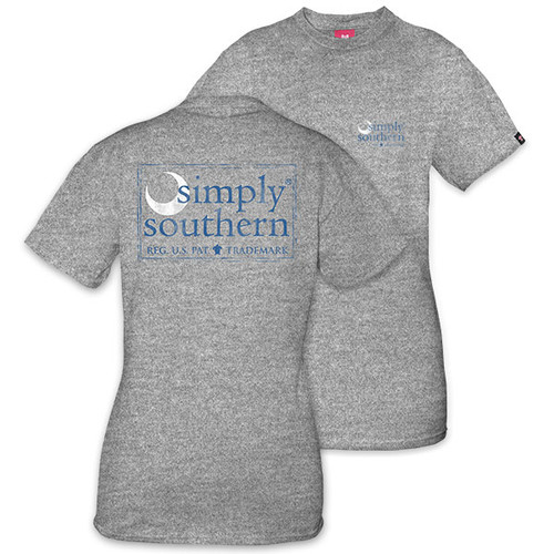 Small Moon Gray Unisex Short Sleeve Tee by Simply Southern