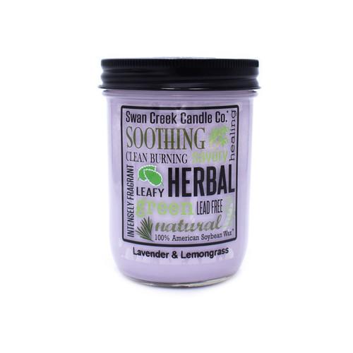 Lavendar & Lemongrass 12 oz. Swan Creek Kitchen Pantry Jar Candle