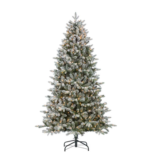 Natural Cut Flocked 7.5 ft. Swiss Mountain Fir by Sterling Tree
