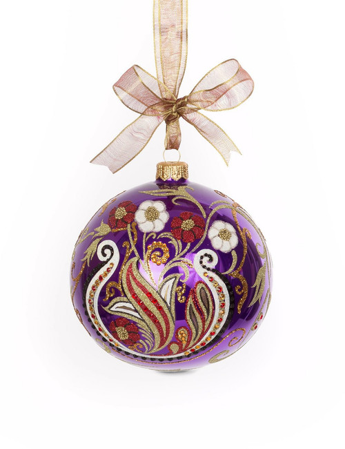 """Jay Strongwater Paisley Artisan 4"""" Ornament"""