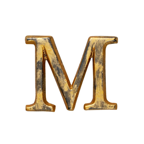 """Letter """"M"""" - 1.5in Metal Letter - GG Collection  -Special Order"""