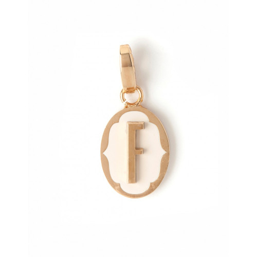 """Letter """"F"""" Oval Cartouche Charm - Style Spartina 449"""