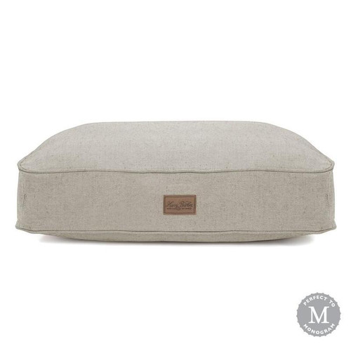 Small Grey Tweed Rectangle Dog Bed Cover by Harry Barker - Special Order
