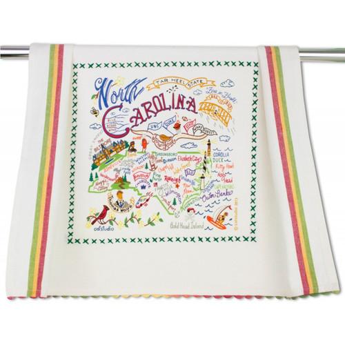 North Carolina Dish Towel by Catstudio