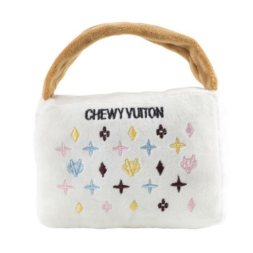 Small White Chewy Vuiton Handbag by Haute Diggity Dog