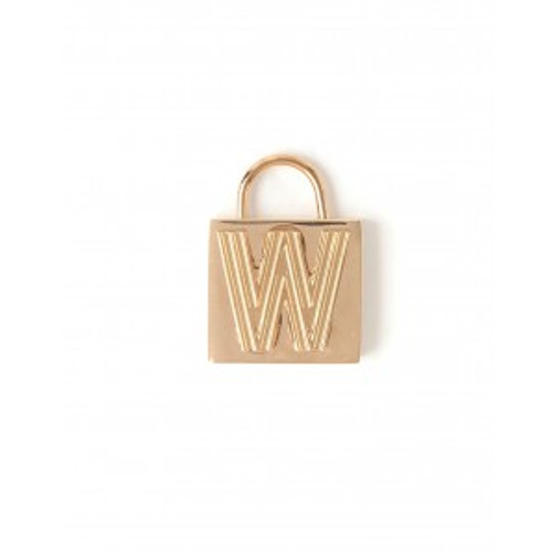"""Letter """"W"""" Padlock Charm - Style Spartina 449"""