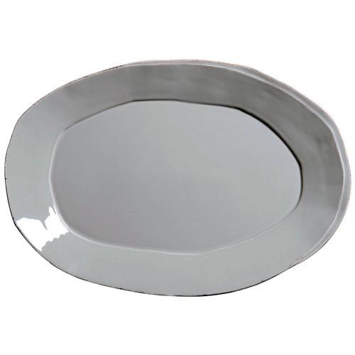 Vietri Lastra Gray Oval Platter - Special Order