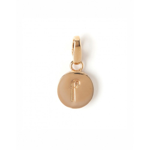 """Letter """"F"""" Round Crystal Charm - Style Spartina 449"""
