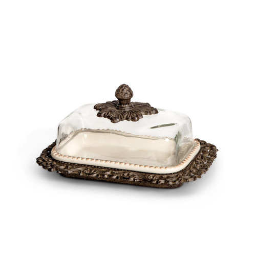 Butter Dish with Glass Lid - GG Collection