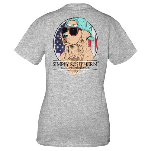 Small Heather Gray Freedom Short Sleeve Tee by Simply Southern