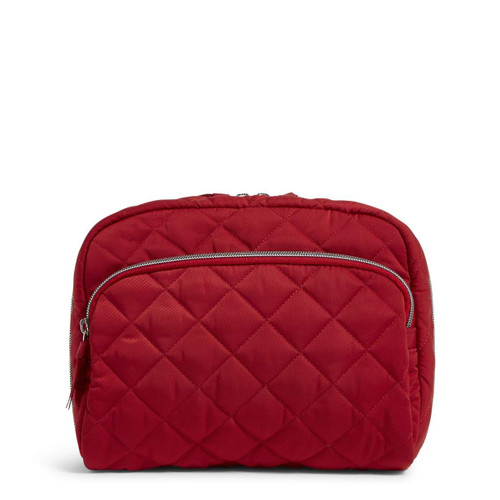 Lay Flat Cosmetic Bag Performance Twill Cardinal Red by Vera Bradley