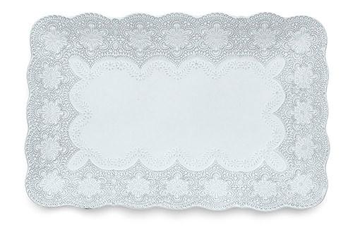 Merletto White Rectangular Tray - Arte Italica