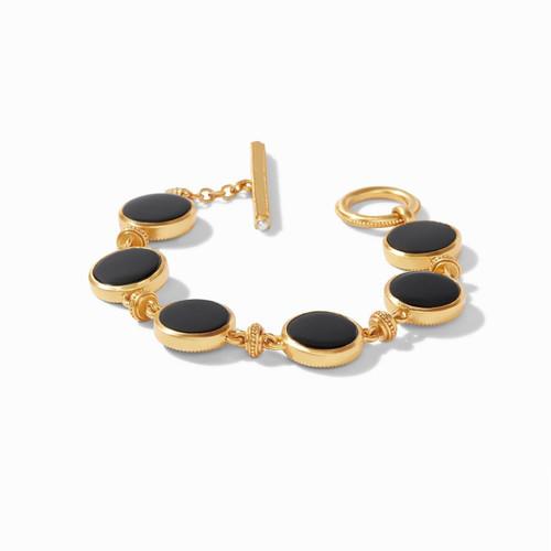 Julie Vos Coin Double Sided Bracelet - Gold Black Onyx