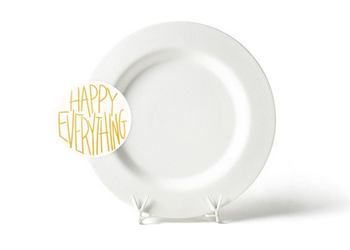 White Small Dot Big Entertaining Platter with Happy Everything! Big Attachment by Happy Everything!