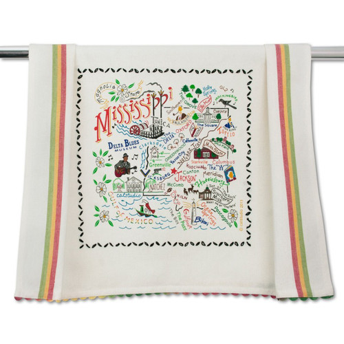 Mississippi Dish Towel by Catstudio