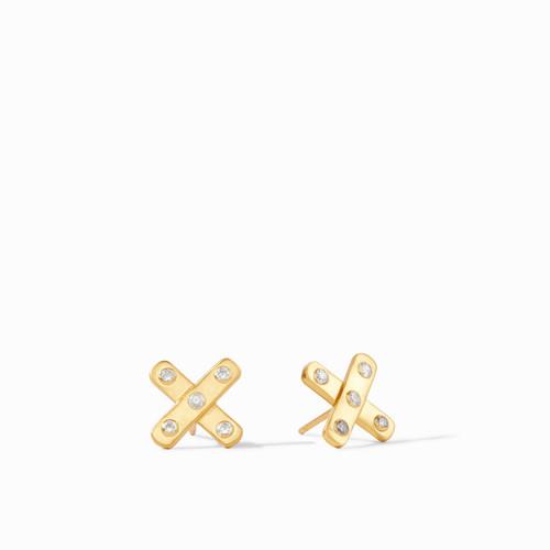 Julie Vos Paris x Earrings - Gold Cz