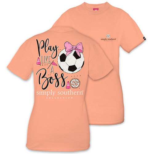 XXLarge Play Like a Boss Soccer Short Sleeve Tee by Simply Southern
