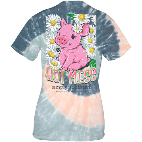 Small Hot Pastel  Short Sleeve Tee by Simply Southern