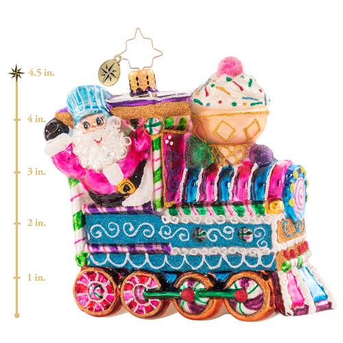 Santa'S Sugary Dream Machine Ornament by Christopher Radko -