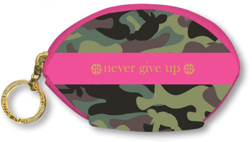Green Camo Coin Purse Keychain by Simply Southern