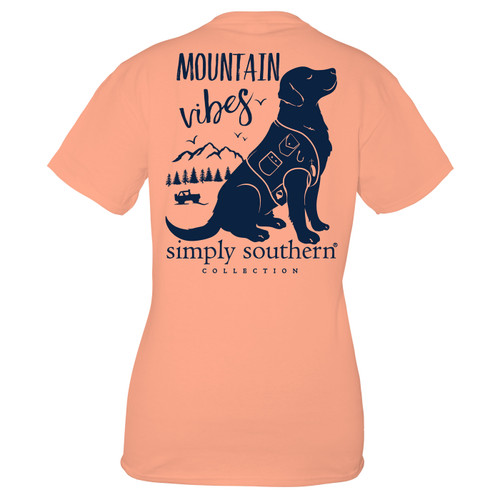Small Peachy Mountain Short Sleeve Tee by Simply Southern