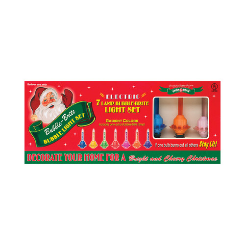 Holiday Splendor Bubble Lights  (Set of 7) by Christopher Radko