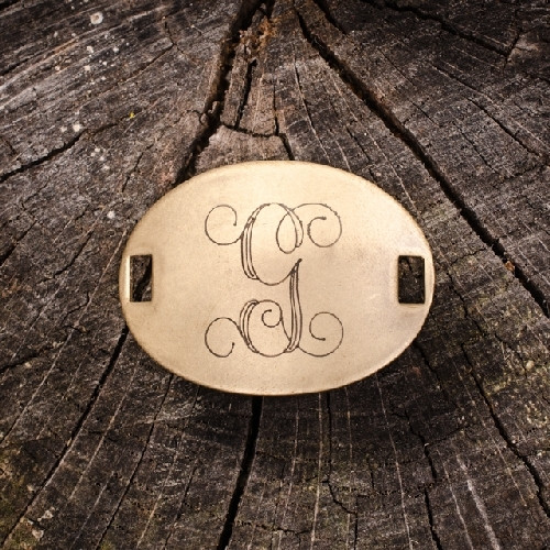 """Laiton """"G"""" Monogram Charm by Beaucoup Designs"""