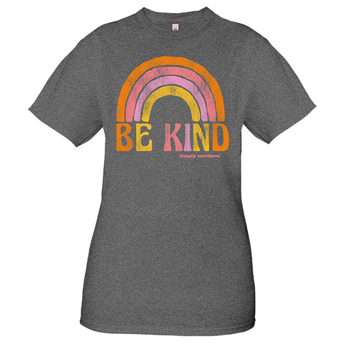 Small Vintage Dark Heather Gray Be Kind Short Sleeve Tee by Simply Southern