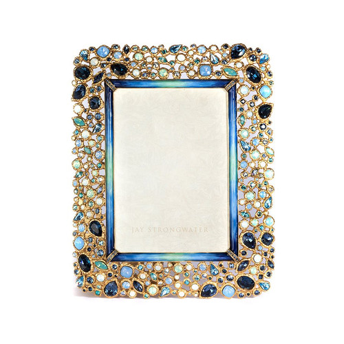 """Jay Strongwater Javier Bejeweled 5"""" x 7"""" Frame - Special Order"""