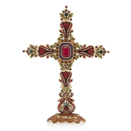 Jay Strongwater Francis Jeweled Cross - Special Order