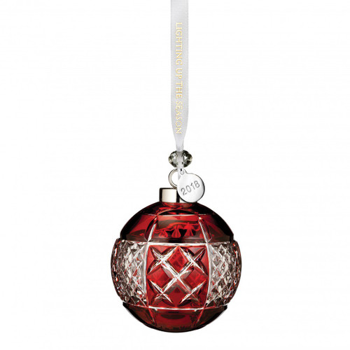 Ruby Ball Ornament by Waterford