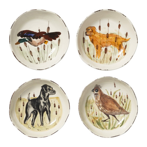 Vietri Wildlife Assorted Pasta Bowls - Set of 4 - Special Order