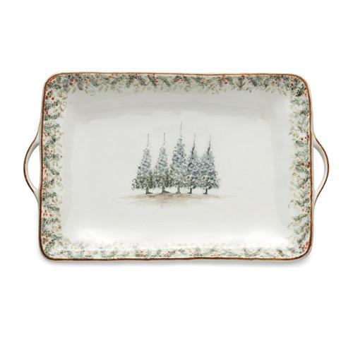 Natale Large Rectangular Tray - Arte Italica