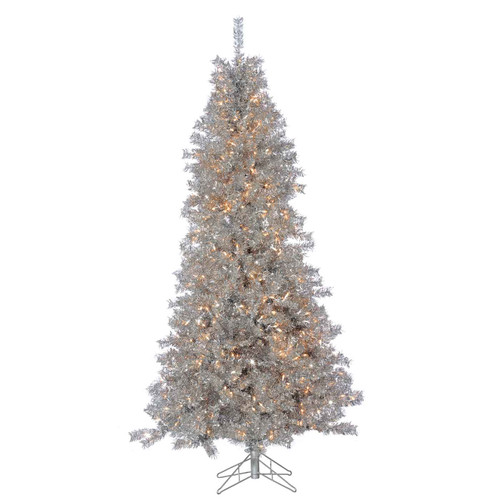 Silver Curly 7.5 ft. Tinsel Tree by Sterling Tree